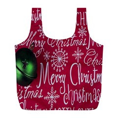 Christmas Decorations Retro Full Print Recycle Bags (l)