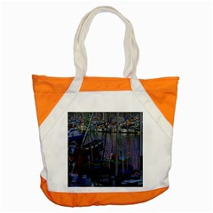 Christmas Boats In Harbor Accent Tote Bag by Nexatart