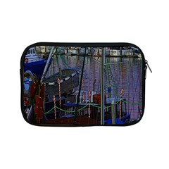 Christmas Boats In Harbor Apple Ipad Mini Zipper Cases