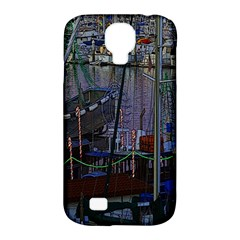 Christmas Boats In Harbor Samsung Galaxy S4 Classic Hardshell Case (pc+silicone)
