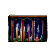Christmas Lighting Candles Cosmetic Bag (medium)