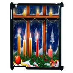 Christmas Lighting Candles Apple Ipad 2 Case (black)