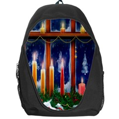 Christmas Lighting Candles Backpack Bag