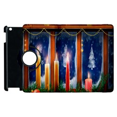 Christmas Lighting Candles Apple Ipad 3/4 Flip 360 Case by Nexatart