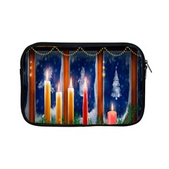 Christmas Lighting Candles Apple Ipad Mini Zipper Cases by Nexatart