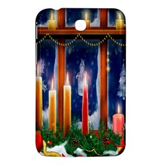 Christmas Lighting Candles Samsung Galaxy Tab 3 (7 ) P3200 Hardshell Case  by Nexatart
