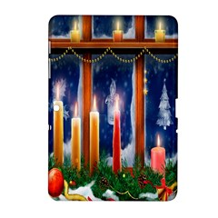 Christmas Lighting Candles Samsung Galaxy Tab 2 (10 1 ) P5100 Hardshell Case