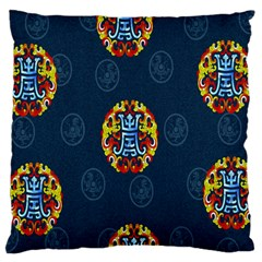 China Wind Dragon Large Flano Cushion Case (two Sides)