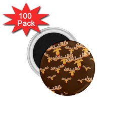 Christmas Reindeer Pattern 1 75  Magnets (100 Pack)