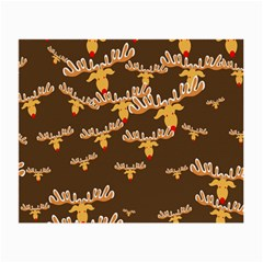 Christmas Reindeer Pattern Small Glasses Cloth by Nexatart