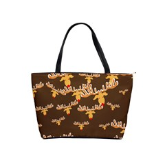 Christmas Reindeer Pattern Shoulder Handbags