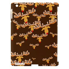 Christmas Reindeer Pattern Apple Ipad 3/4 Hardshell Case (compatible With Smart Cover) by Nexatart