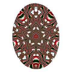 Christmas Kaleidoscope Ornament (oval) by Nexatart