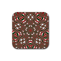 Christmas Kaleidoscope Rubber Coaster (square)