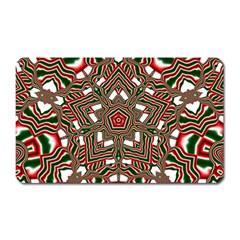 Christmas Kaleidoscope Magnet (rectangular) by Nexatart