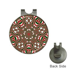 Christmas Kaleidoscope Hat Clips With Golf Markers by Nexatart