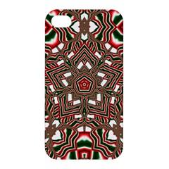 Christmas Kaleidoscope Apple Iphone 4/4s Premium Hardshell Case by Nexatart