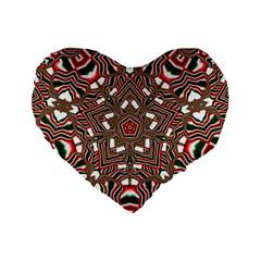 Christmas Kaleidoscope Standard 16  Premium Flano Heart Shape Cushions by Nexatart