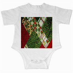 Christmas Quilt Background Infant Creepers by Nexatart
