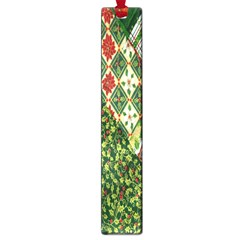 Christmas Quilt Background Large Book Marks by Nexatart