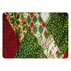 Christmas Quilt Background Samsung Galaxy Tab 8 9  P7300 Flip Case