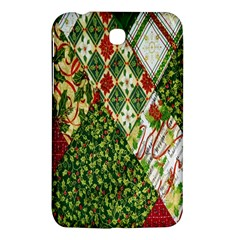 Christmas Quilt Background Samsung Galaxy Tab 3 (7 ) P3200 Hardshell Case  by Nexatart