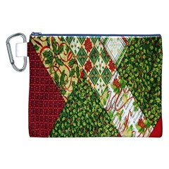 Christmas Quilt Background Canvas Cosmetic Bag (xxl) by Nexatart