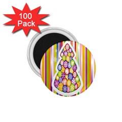 Christmas Tree Colorful 1 75  Magnets (100 Pack)  by Nexatart