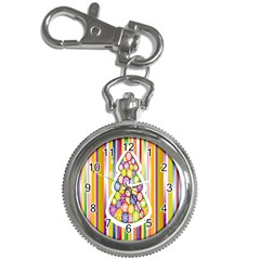 Christmas Tree Colorful Key Chain Watches by Nexatart