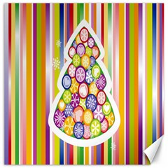 Christmas Tree Colorful Canvas 12  X 12   by Nexatart