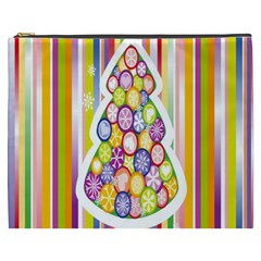 Christmas Tree Colorful Cosmetic Bag (xxxl)  by Nexatart