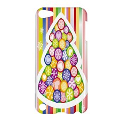 Christmas Tree Colorful Apple Ipod Touch 5 Hardshell Case