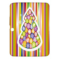 Christmas Tree Colorful Samsung Galaxy Tab 3 (10 1 ) P5200 Hardshell Case  by Nexatart
