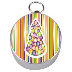 Christmas Tree Colorful Silver Compasses