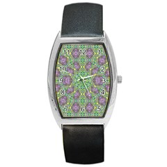 Modern Ornate Geometric Pattern Barrel Style Metal Watch by dflcprints