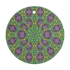 Modern Ornate Geometric Pattern Round Ornament (two Sides) by dflcprints
