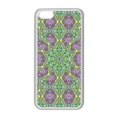 Modern Ornate Geometric Pattern Apple Iphone 5c Seamless Case (white) by dflcprints