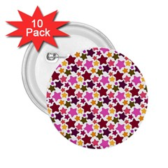Christmas Star Pattern 2 25  Buttons (10 Pack)  by Nexatart