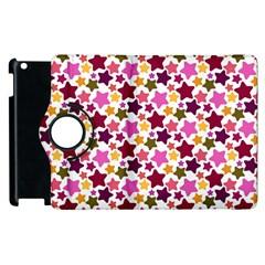 Christmas Star Pattern Apple Ipad 2 Flip 360 Case