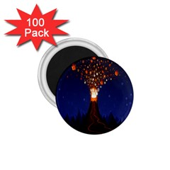 Christmas Volcano 1 75  Magnets (100 Pack)  by Nexatart