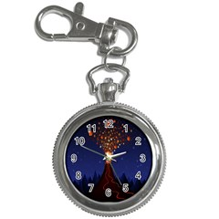 Christmas Volcano Key Chain Watches by Nexatart