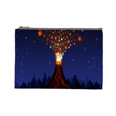 Christmas Volcano Cosmetic Bag (large)