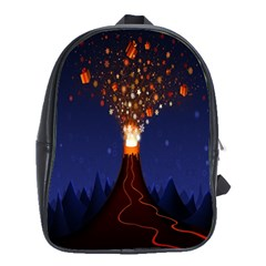 Christmas Volcano School Bags(large)
