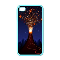 Christmas Volcano Apple Iphone 4 Case (color) by Nexatart