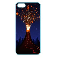 Christmas Volcano Apple Seamless Iphone 5 Case (color) by Nexatart