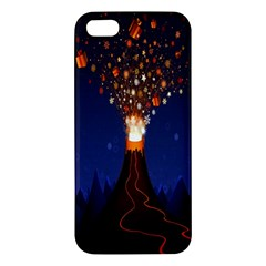Christmas Volcano Apple Iphone 5 Premium Hardshell Case