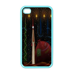 Christmas Xmas Bag Pattern Apple Iphone 4 Case (color)