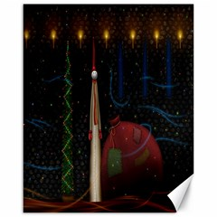 Christmas Xmas Bag Pattern Canvas 16  X 20   by Nexatart