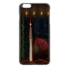 Christmas Xmas Bag Pattern Apple Iphone 6 Plus/6s Plus Black Enamel Case