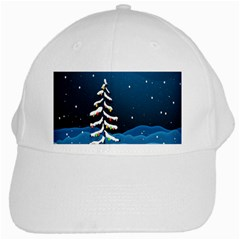 Christmas Xmas Fall Tree White Cap by Nexatart